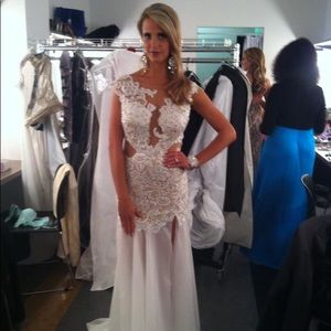 White Mac Ductal lace gown
